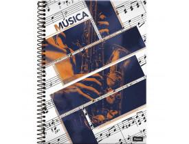 Caderno De Espiral - Capa Dura - Universitário - 96 Folhas - Música I - Foroni