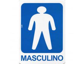 Placa De Sinalizacao Sanitario Masculino 15x20 Look
