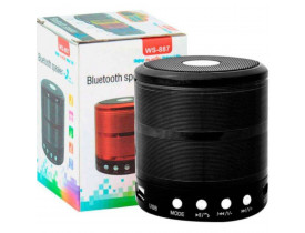 Mini Caixa Som Bluetooth Wireless Mp3 Fm Sd Usb Ws-887