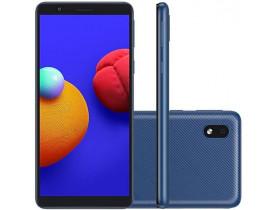 """Celular Samsung Galaxy A01 Core Azul 32GB, Tela Infinita de 5.3"""", Câmera Traseira 8MP, Android GO 10.0, Dual Chip e Processador Quad-Core"""