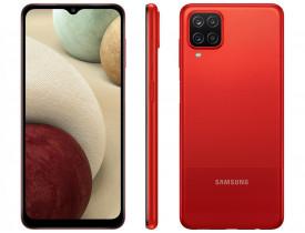 """Celular Samsung Galaxy A12 64GB Vermelho 4G - Octa-Core 4GB RAM 6,5"""" Câm. Quádrupla + Selfie 8MP"""
