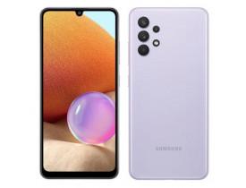"""Celular Samsung Galaxy A32, Violeta, Tela de 6.4"""", 4G+Wi-Fi+NFC, And. 11, Câm. Tras. de 64+8+5+2MP, Frontal de 20MP, 128GB"""